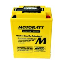 MB12U Motobatt AGM Motorcycle Battery 12v 15Ah 150CCA (YB12A-A , YB12AL-A2) From £44.16 EX VAT Buy Online from The Battery Shop